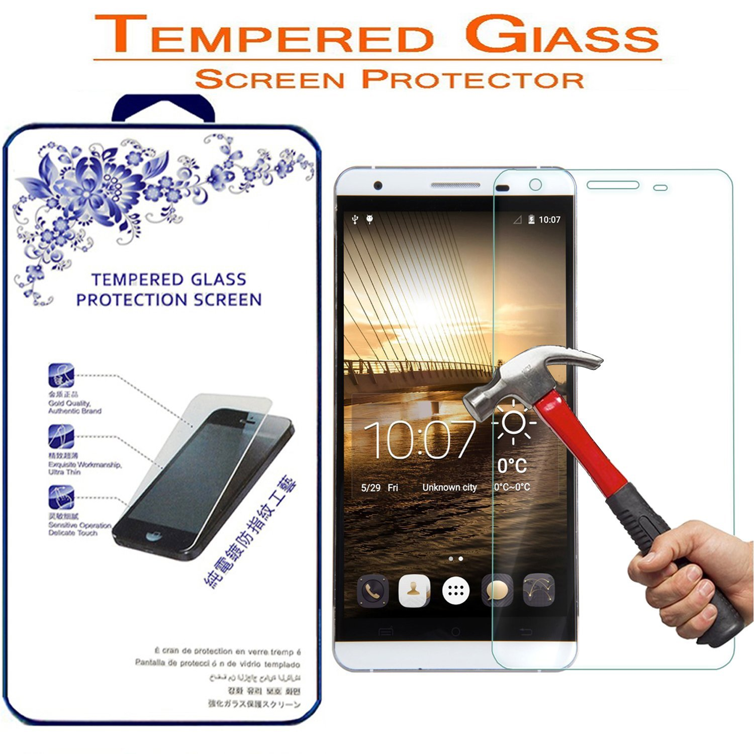 CUBOT X15 Tempered Glass, Nacodex® Premium Tempered Glass Screen Protector Film For CUBOT X15 - [2.5D Round Edge] [9H Hardness] [Bubble Free]