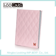 Customizable Pink Notebook With Pattern PU Cover