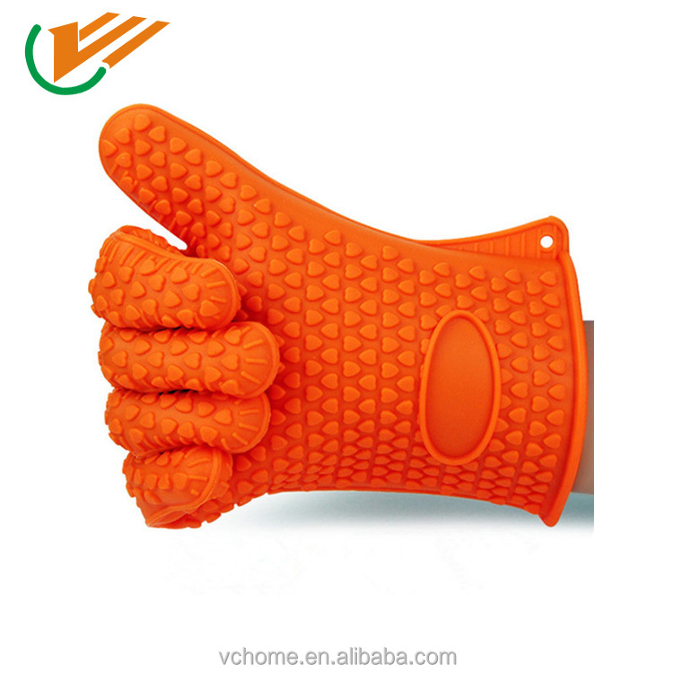 Kitchen Microwave Oven Non-slip Heat Resistant Silicone Gloves for Cooking/ Baking /BBQ