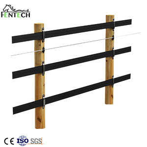 Black UV resistant cheap High Tensity Electric Cable Horse Fence with Flexible Rail for Farm