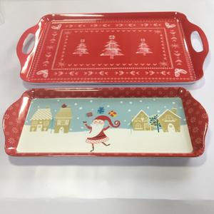 Melamine Christmas Platters.Christmas Tray Melamine Dinnerware Plastic Square Tray
