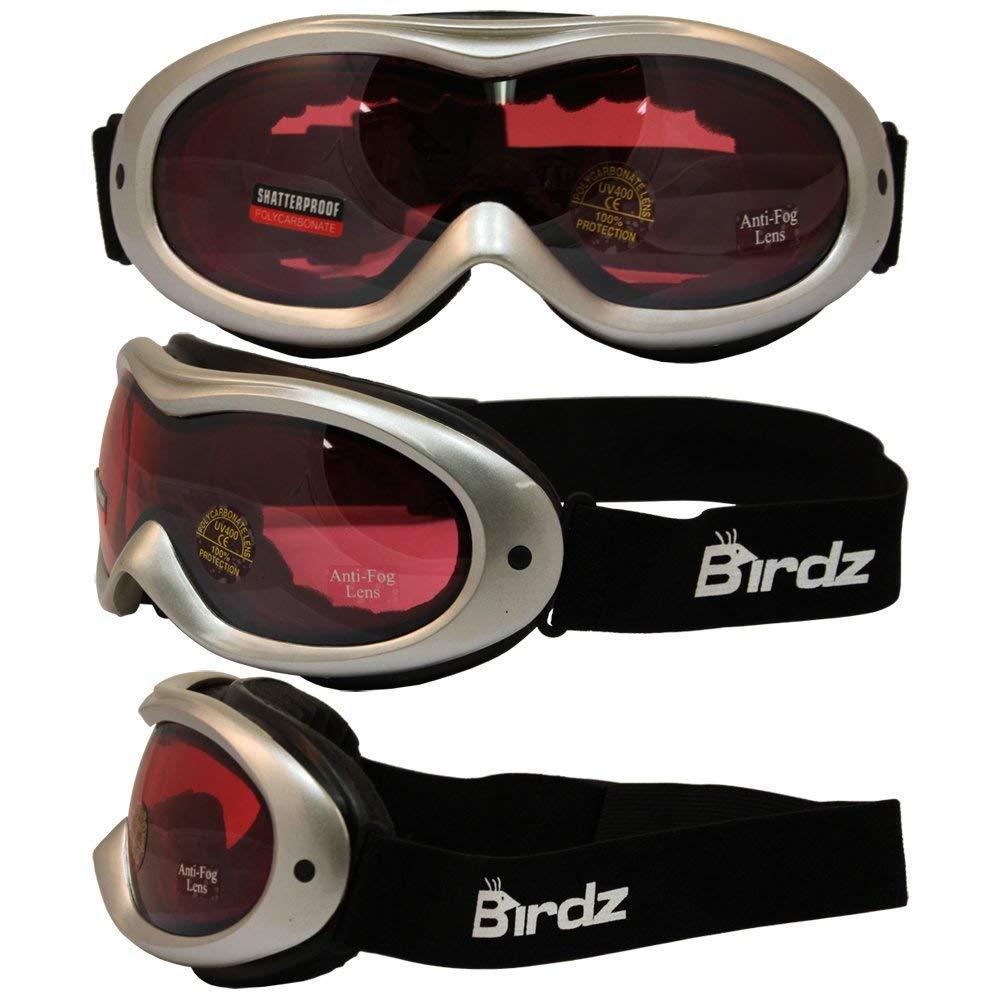 59869c2ea27c Get Quotations · Birdz Eyewear Talon Ski Goggles with Silver Frame Rose  Mirror Anti-fog and Scratch Resistant
