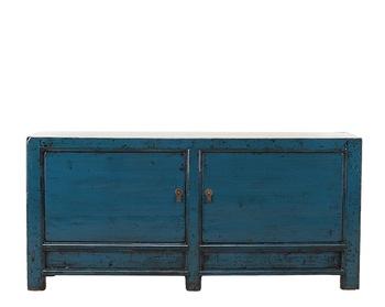 Restaurante Rústico Muebles Apenada Aparador En Azul Oscuro