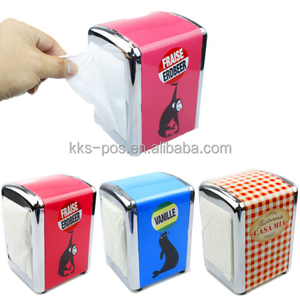 Custom Design Durable Tinplate Napkin Dispenser