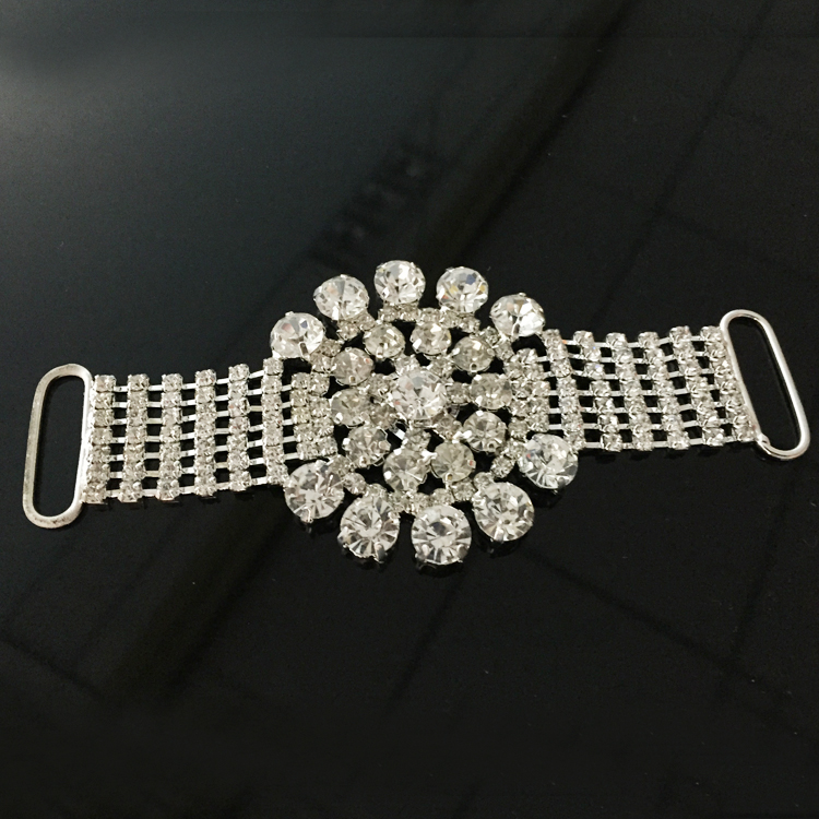 Top quality women bikini accessories rhinestone pave swimwear crystal bikini connector