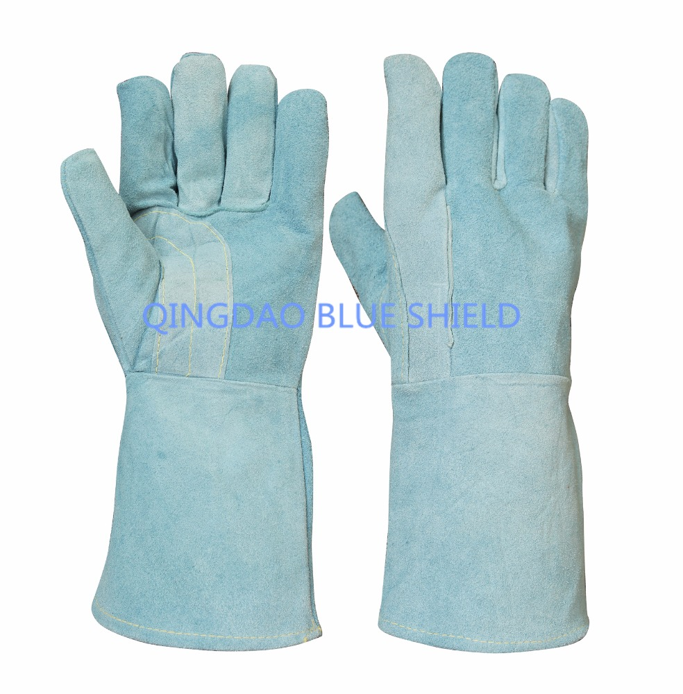 welding labour protection split leather hand gloves