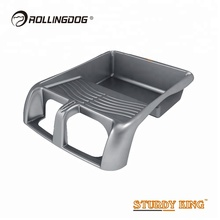 ROLLINGDOG High End <span class=keywords><strong>12</strong></span> <span class=keywords><strong>inch</strong></span> Nieuwe PP Plastic Dubbele <span class=keywords><strong>Stap</strong></span> Diepe Goed Verf Lade