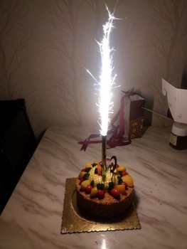 Admirable Wholesale Cold Flame Pyro 18Cm Sparkler Birthday Cake Candle Funny Birthday Cards Online Alyptdamsfinfo