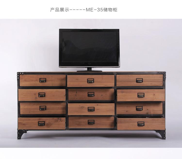 rurale am ricaine r tro bois de fer salon meuble tv casiers de stockage casier 12 tiroirs entr e. Black Bedroom Furniture Sets. Home Design Ideas