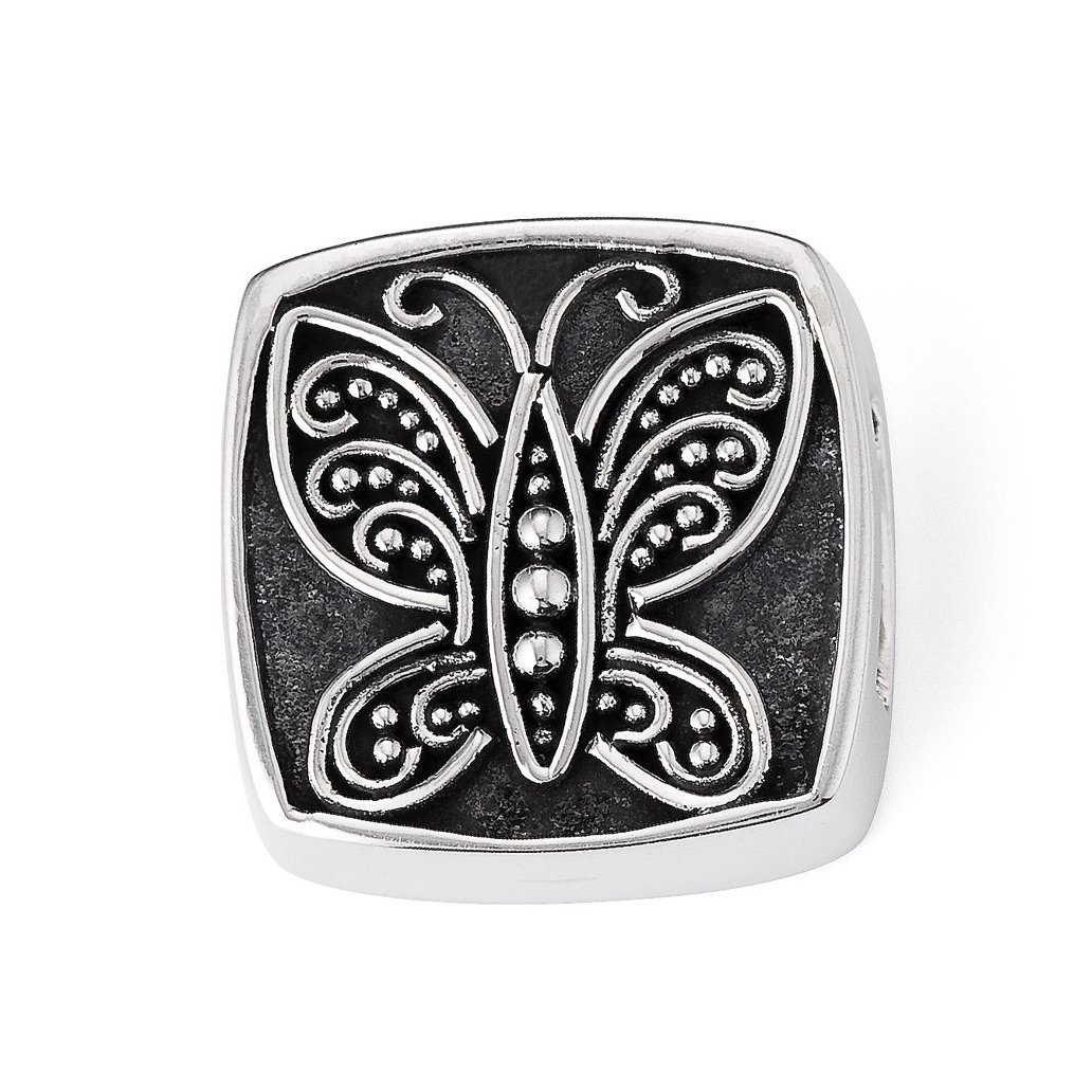 Lori Bonn Social Butterfly Slide Charm - Authentic Silver Slide Charm