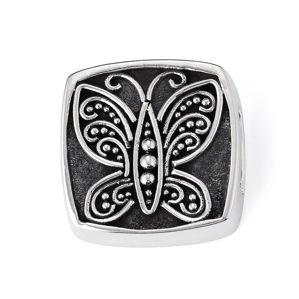 Lori Bonn Social Butterfly Slide Charm - Authentic Silver Slide Charm