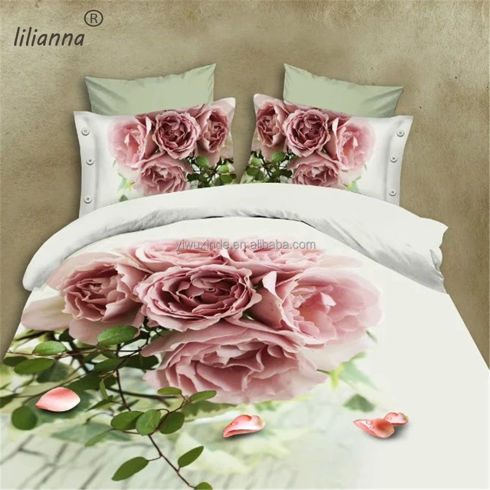 2016 vintage good quality 3d bedding sets floral king size bedding sets
