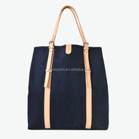 Fashion canvas hand bag for lady, canvas tote bag