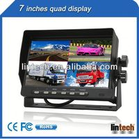 New car lcd monitor 7 inch tft lcd color monitor with 4 AV inputs