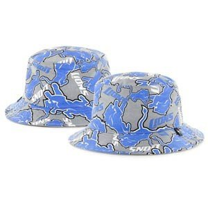 NFL 47 Brand Detroit Lions Bravado Bucket Hat / Grey/Blue / Detroit Lions / One Size