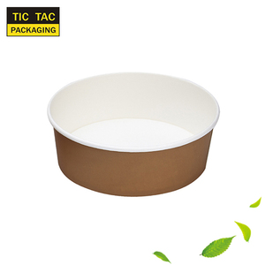 Disposable hot soup paper take away bowl with lids