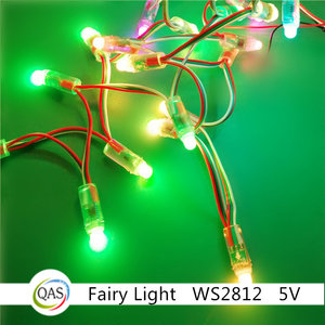 RGB 3in1 fairy light Christmas Wedding festaval Party fairy light ws2811/ws2812 DC5v 12v flash light