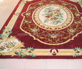 Floor Hand Tufted Handmade French Chinese Wool Aubusson Carpet Rug