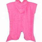 Terry Bamboo Towel Cute Girls Pinky Terry Bamboo Hooded Towel