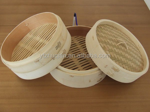 New dim sum 8inch natural bamboo food steamer cooker