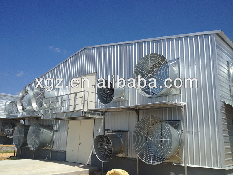 prefabricated steel poultry farms poultry house design good quality