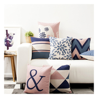 Cotton Linen Sublimation Printing Sofa custom plain cushion covers throw pillow case home decor