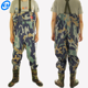 Good quality factory price Men's Camo Breathable Fishing Insulated Bootfoot Chest Waders