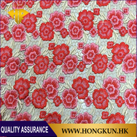 High quality Red Rose 130cm nylon cotton embroidered lace fabric Used in apparel and home textiles.