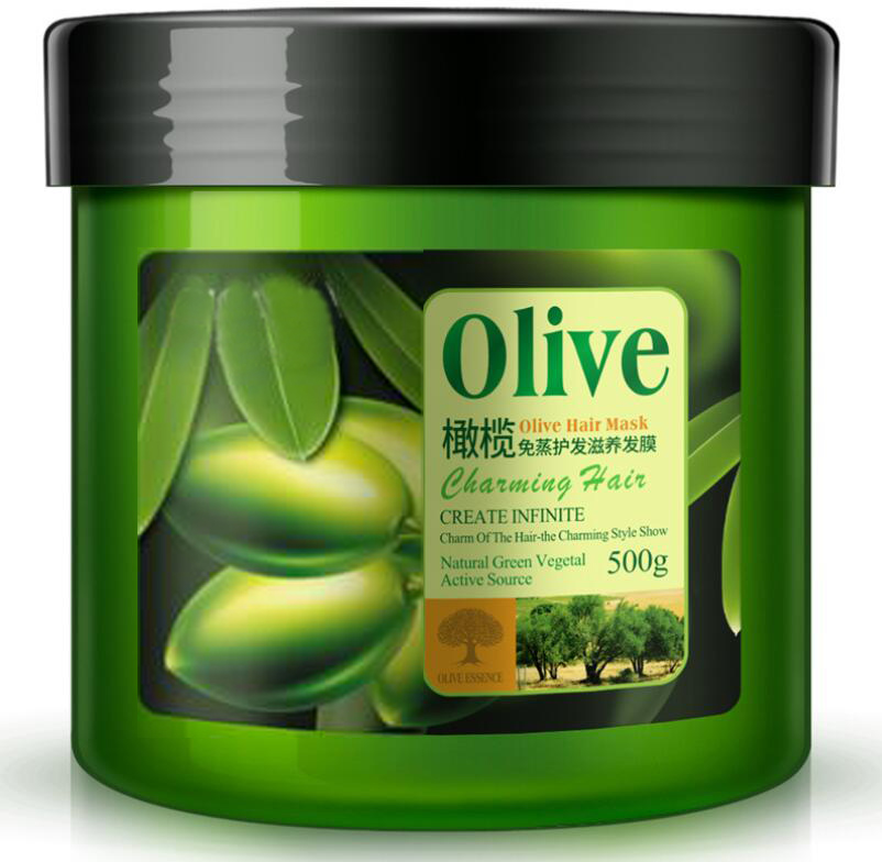 wholesale solid natural organic olive hair film 500ml, hair color conditioner