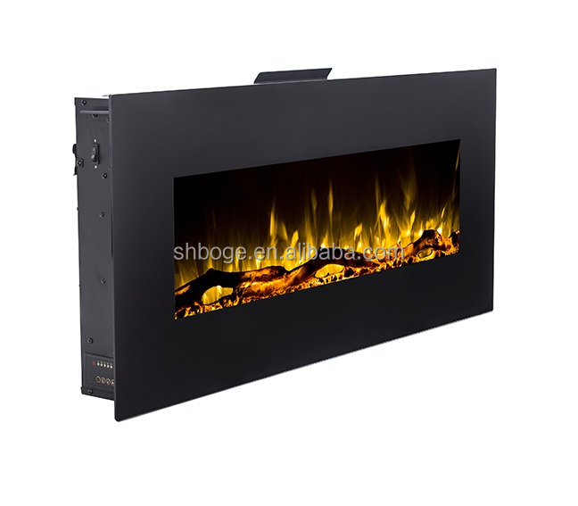 Flush Mount 42 Wall Mount Electric Fireplace Reaslistic Fire