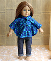 New blue cape clothing and Jeans pants for 18 inch AMERICAN PRINCESS girl doll clothes doll