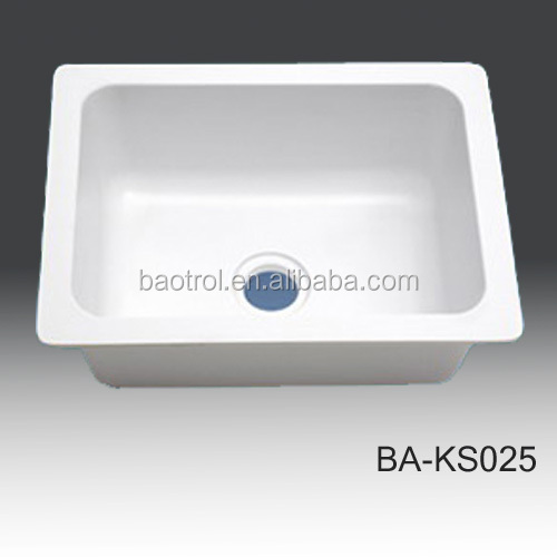 New decor material solid surface sink kitchensmall double kitchen sink & New Decor Material Solid Surface Sink KitchenSmall Double Kitchen ...
