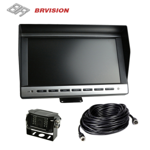 "10.1"" Car TFT LCD Monitor Mirror + Reverse Rear View Backup Camera Kit"