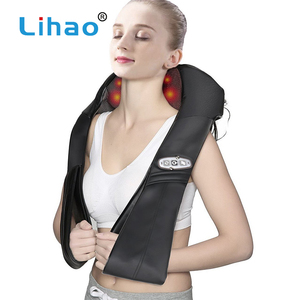 LIHAO Hot Selling Electronic Hot Neck Shoulder Massager Infrared Heating