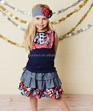 2018 baby girls remake ruffle outfits childrens boutique two pieces clothing sets for spring summer