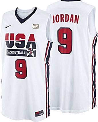 80a12a994f1b Get Quotations · Michael Jordan 1992 Usa Olympic Dream Team Jersey White  Size Medium