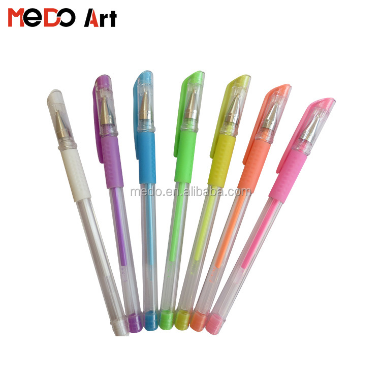 Customized Logo Printed Fancy Milky Colored Pastel Gel Ink Pen