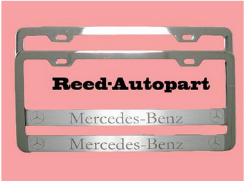 Canada USA steel or zinc alloy LICENSE plate frame raised letter