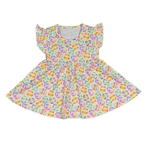 Cute baby girls skirt beautiful girls dresses kids boutique clothing with flower printing