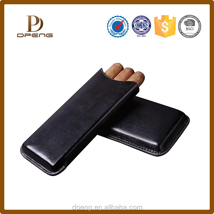 Wholesale custom Leather Cigar Holder / Cigar case / Cigar humidor