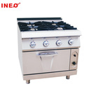 Hotel Restaurant Commercial Industrial Heavy Duty Freestanding 4 Burner Gas Cooker With Oven