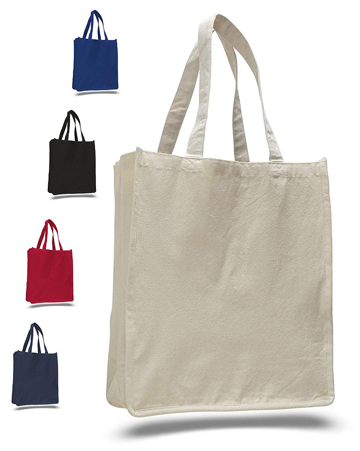 21b0136ac6d5 Thick Material Heavy Canvas Reusable Grocery Blank Tote Bags - Full Side  and Bottom
