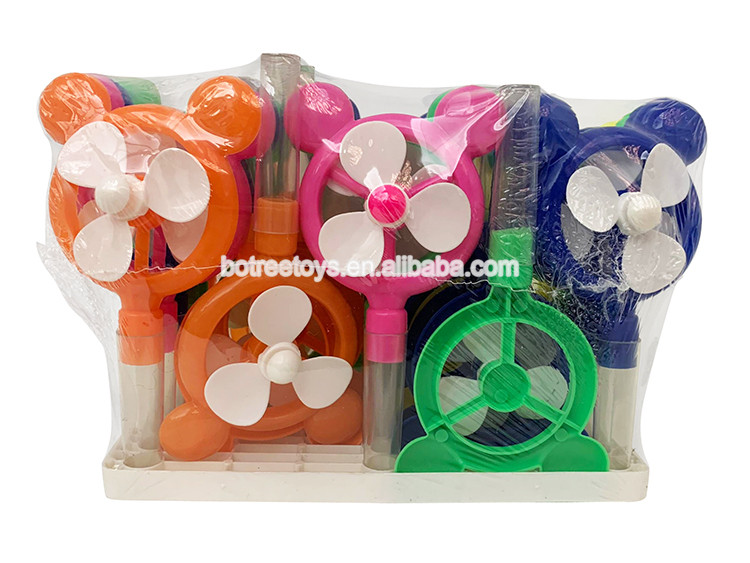 Plastic Sugar Fan Toy with Tray Tube Sweet 2g Candy Toys