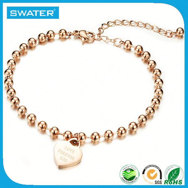 Wholesale Market Rose Gold Rosary Bracelet With Gold Plated