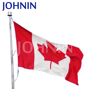 wholesale factory direct custom made polyester canadian flag fabric