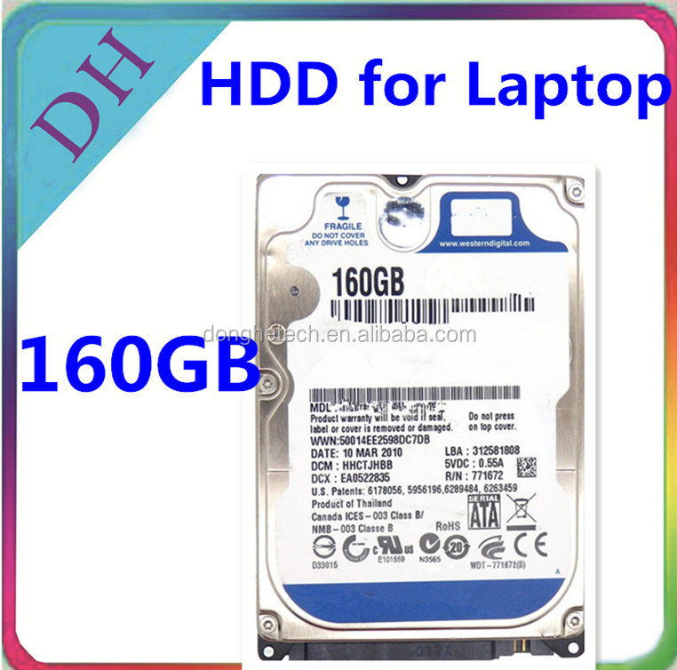 Branded laptop standard used hdd 2.5 160GB harddisk portable notebook 8MB Cache 5400rpm