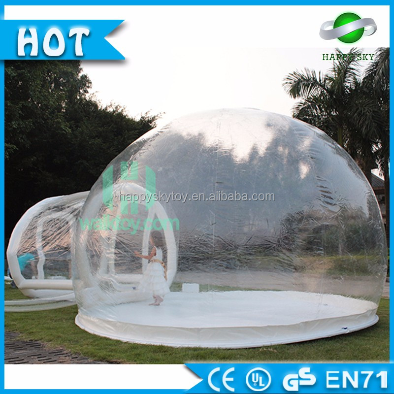 Guangzhou 7L*Dia5*3.5H meters Transparent Inflatable Bubble House inflatable Igloo <strong>tent</strong>