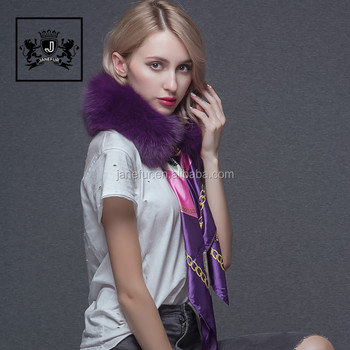 A fashion faux fur scarf and a new autumn winter warming scarf for a lady with a fur collar