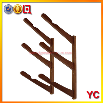 custom made wooden wall mounted surfboard rack