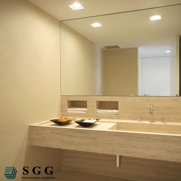 Excelente calidad de cuarto de ba o sin marco biselado for Pared de espejo precio